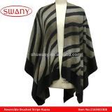 Reversible Brushed Stripe Ruana