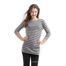 Завод Продажа простой дизайн полоса стиль вязаный свитер
