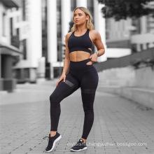 Custom 2 Piece Yoga Sets High Waisted Seamless Leggings Sports Bra