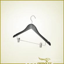 Black Wooden Clothing Hanger for Hotel