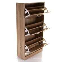 Multifunctional storage wood shoe cabinet