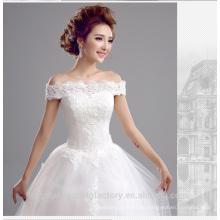 Vestido de boda blanco cristalino de lujo Vestido Vestidos de Novia más los vestidos de bola de la boda del tamaño MW2198
