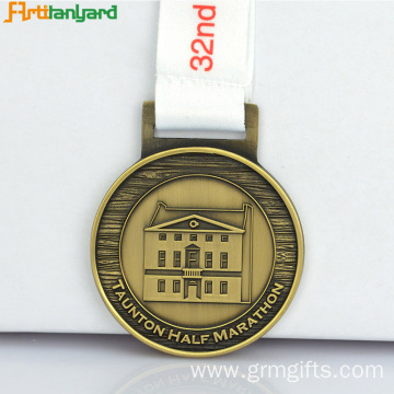 Custom Award Medals With Custom Ribbon