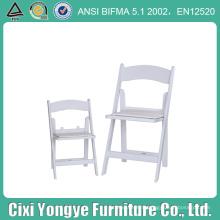 Chaise pliante blanche de résine de mariage capitonnée pour le banquet