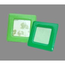 """Cuadros cuadrados de cuero verde de la PU para 4 X4 """"Cuadro"""