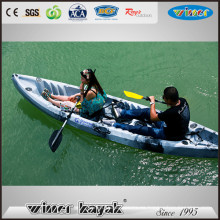 2016 Nueva Roto Moldeada Tres Personas Se Sientan En El Top Kayak De Pesca