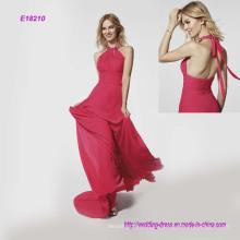 Горячая Ремешок На Шею Расклешенные Вечернее Платье