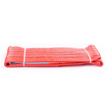 5 Ton Capacity 5M Or OEM Length 150MM Width Lifting Cheap Price 5T Webbing Sling Belt Red Color Safety Factor 8:1 7:1 6:1