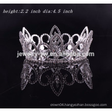 bridal tiara wedding hair accessories full round rhinestone crown