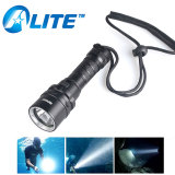 New Arrival Diving Grade IP68 Underwater 50M XPE LED Diving Flashlight