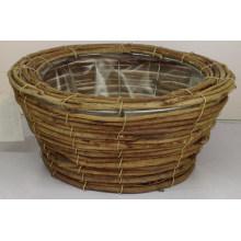 Cesta de bambú hecha a mano de ratán