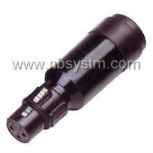 Conector de microfone 3P para adaptador de microfone 4P