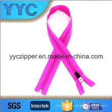 5 # светло-фиолетовый длинный нейлоновый молния для спортивной одежды