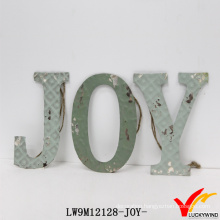Wholesale Antique Vintage Water Paint Handmade Craft Metal Letter for Decoration