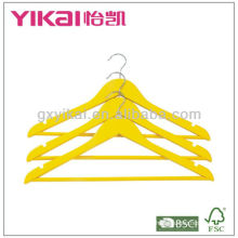 FSC certificate hot selling colored wooden hanger