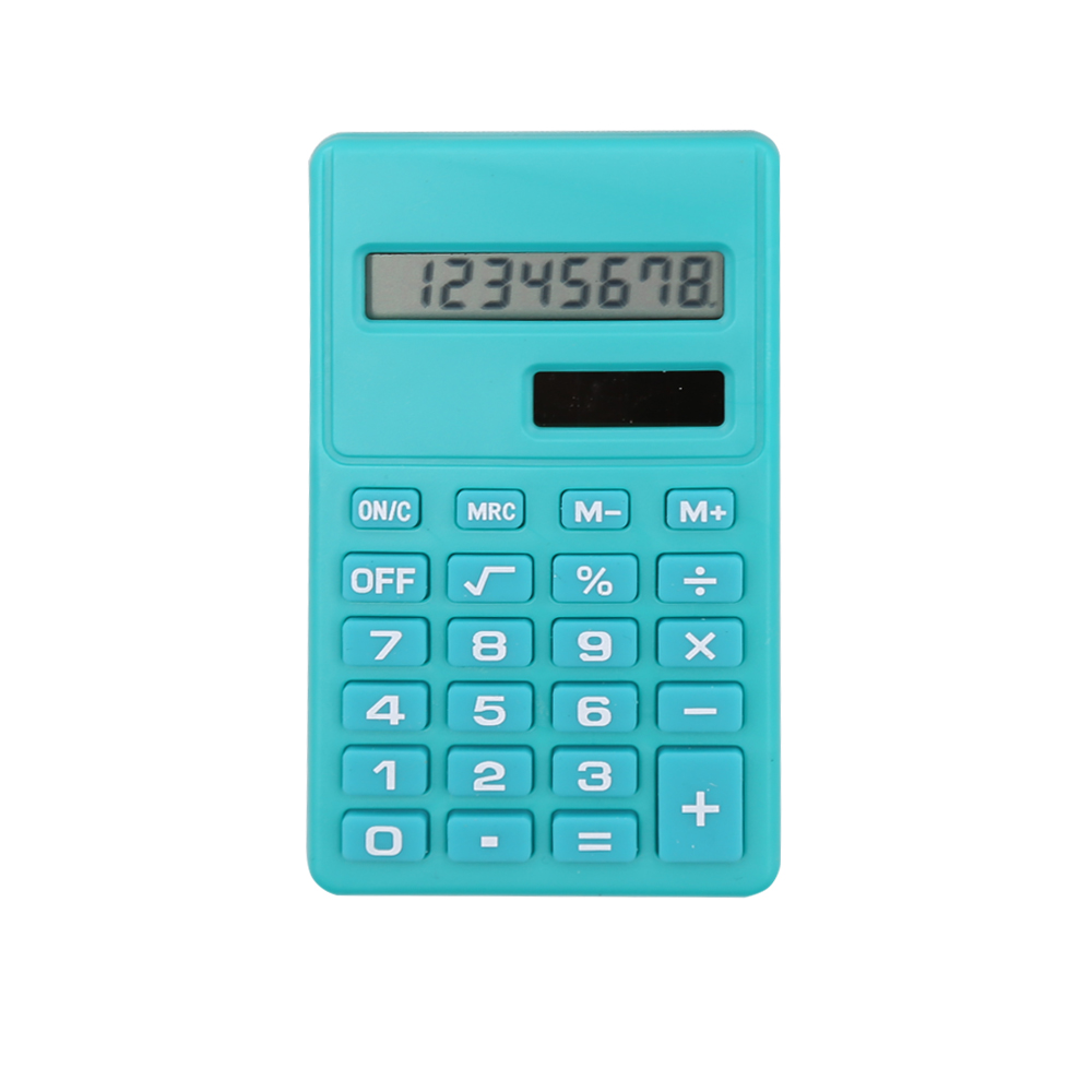 8 Digits Dual Power Plastic Calculator for Students