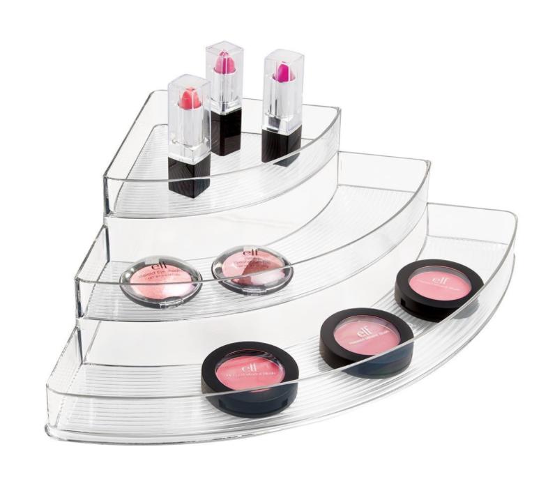 Acrylic Corner Cosmetic Organizer