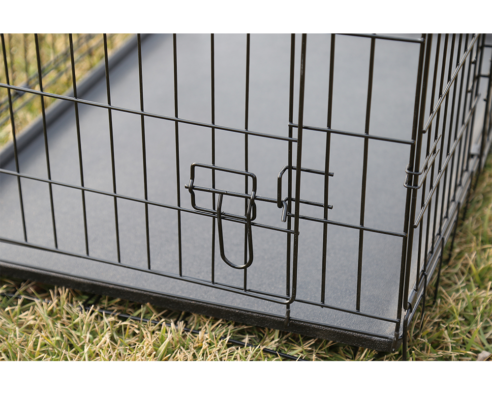 Double Door Rustproof Metal Dog Cage