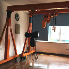 CE-Zertifikat mini kleine haltbare einstellbare Höhe 3ton Schneckenrad Portalkran mit Hebekette