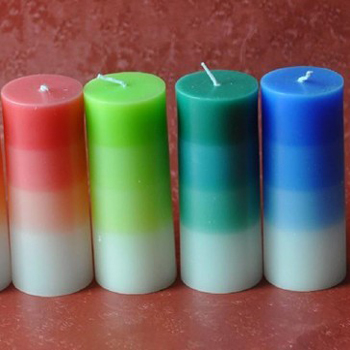 Colorful real flame LED candle 1