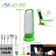 With 4 USB Adaptor & 2 Solar Panel Quick Charge Solar Camping Light