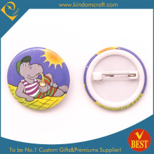 Seaside Relaxation Tin Button Badge for Tourist as Present