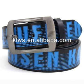 100% Cowhide hot sale men's genuine cowhide custom printed belts men