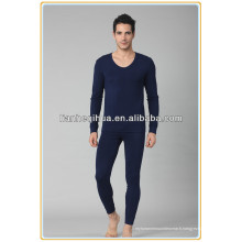 Chaud sexy tricot sans couture hommes sous-vêtements long johns, sexy mode homme vêtements de nuit