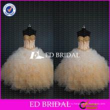 ЭД Новая Свадебная Коллекция милая бисером лиф бальное платье из органзы quinceanera платья
