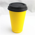 16oz Disposable Single Wall Paper Cup with Lids