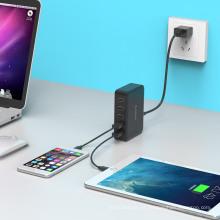 ORICO DCAP-5S Estación de carga inteligente USB de 5 puertos con IC de carga inteligente