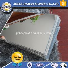 Popular acrílico 4'x8 'espejo hoja 2 mm 3 mm para material de decoración