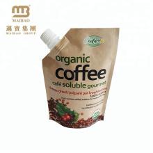 Nach Maß flüssige Getränk-Verpackung gesprenkelte Tasche / lamellierter brauner Kraftpapier-Ausfluss-Beutel Maiterial für Getränk