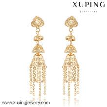 90982 Xuping New Fashion Chine Wholesale bijoux 18K plaqué or bijoux bijoux boucles d'oreilles dormeuses