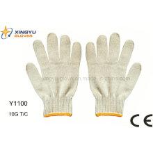 10g T / C Sicherheits-Arbeitshandschuh (Y1100)