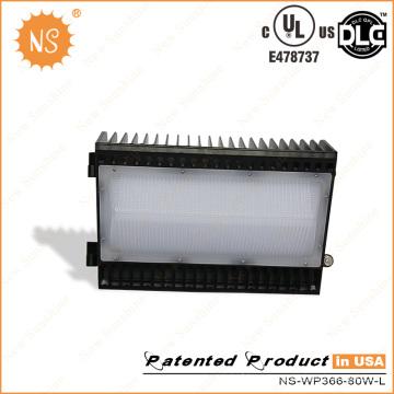 120 grados UL (E478737) Dlc 80W LED luz del paquete de la pared