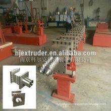 Extrusora de plástico de alta calidad paralela tornillo gemelo y barril