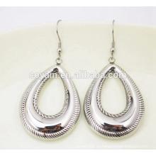 Collar y pendiente de moda Waterdrop conjunto de joyas de acero inoxidable