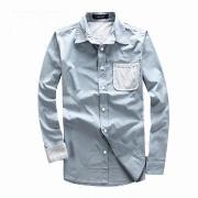 Long-sleeve Casual Men's Dress Shirt, Customized Designs Accepted, Comfortable