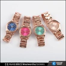 flashing rose gold fancy bracelet watch quartz nickle free