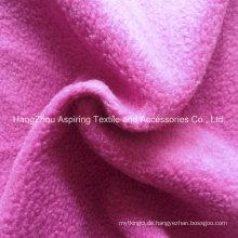 100% Polyester Stricken Polar Fleece Stoff 75D / 96f