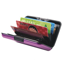 Porte-cartes de crédit en aluminium / carte de crédit Porte-monnaie