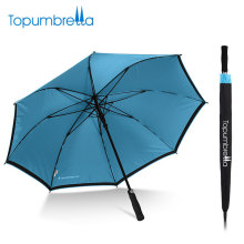 2018 nouveau gros matériau résistant au vent long arbre double couche golf parapluie