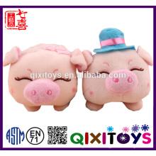 Professional custom plush toys piggy shaped phone holder
