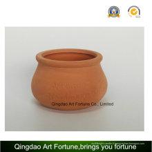 Bougeoir extérieur-naturel - forme de renflement de pot en céramique d'argile