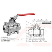 carbon steel 3 way ball valve specification