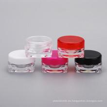 Botella cosmética 3G para crema para los ojos Nail Square Cream Jar