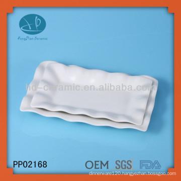 bulk white wave ceramic dinner plates set,ceramic dinner plates,ceramic decorative plates