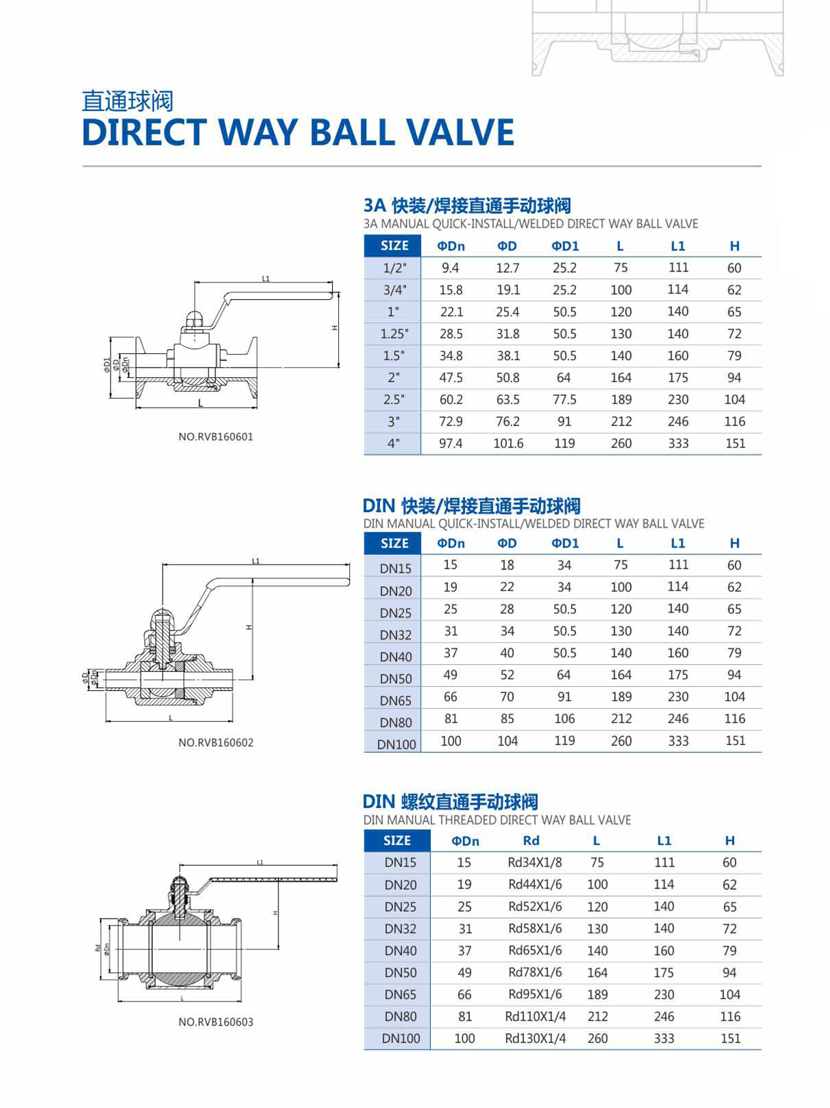 Sanitary 2Way Ball Valve
