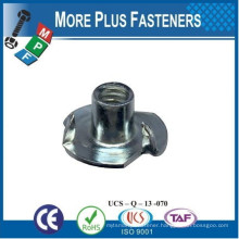 Made in Taiwan Tee Nuts Prong Nuts